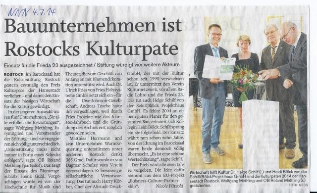 Bauunternehmen Rostock freunde und förderer der kulturstiftung rostock e v